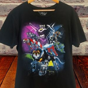 Voltron / Black Tee with Character print